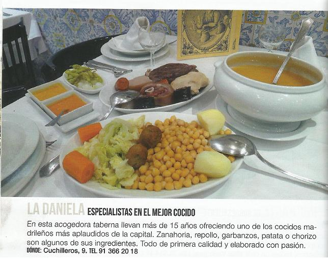 Restaurante especializado en Cocido Madrileño